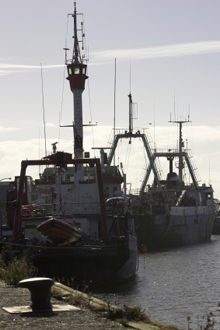 Grimsby fishing trawlers